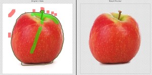 Apfel-Freistellen
